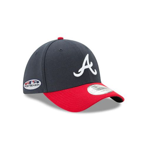 New Era Black Fitted Hats - Atlanta Braves Mlb Postseason Side Patch 39thirty Stretch - Canada 938EDKO