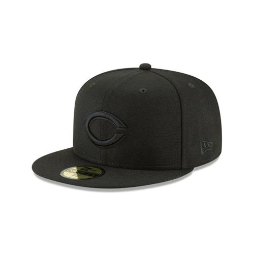New Era Black Fitted Hats - Cincinnati Reds Mlb Blackout Basic 59fifty - Canada 721KBMD
