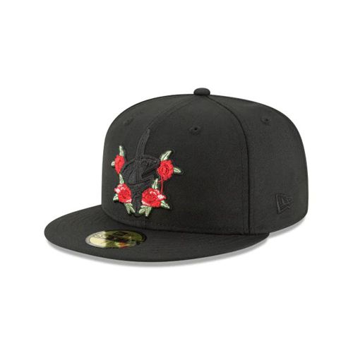 New Era Black Fitted Hats - Floral Pack Cleveland Cavaliers Blk 59fifty - Canada 826EEPD