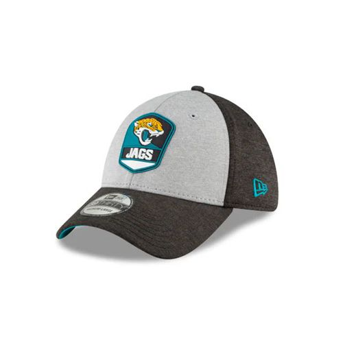 New Era Black Fitted Hats - Jacksonville Jaguars Nfl Official Sideline Road 39thirty Stretch - Canada 429MURX