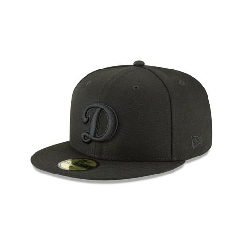 New Era Black Fitted Hats - Los Angeles Dodgers Mlb Blackout Basic 59fifty - Canada 444LSRO