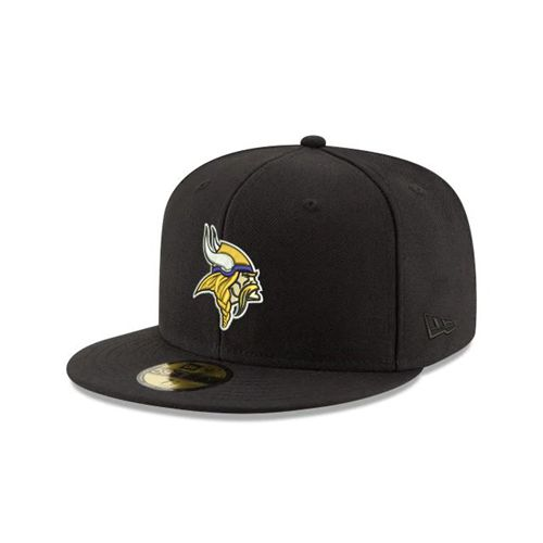 New Era Black Fitted Hats - Minnesota Vikings Nfl 59fifty - Canada 419UQOX