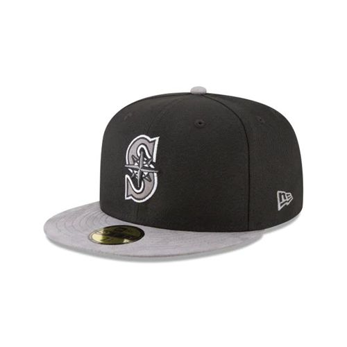 New Era Black Fitted Hats - Seattle Mariners Mlb Tonal Choice Blk 59fifty - Canada 198TREI