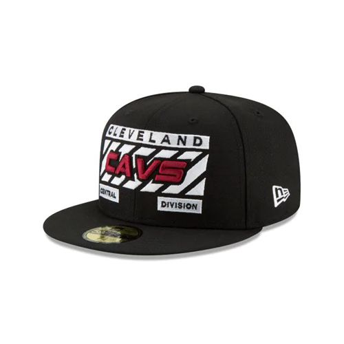 New Era Black Fitted Hats - Slash Division Cleveland Cavaliers 59fifty - Canada 488WEWB