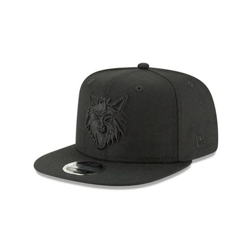 New Era Black Snapback Hats - Minnesota Timberwolves Nba Blk On Blk High Crown 9fifty - Canada 281WTWN