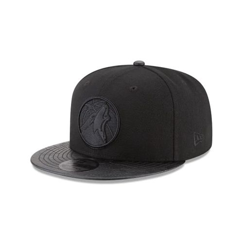 New Era Black Snapback Hats - Minnesota Timberwolves Nba Camo Pressed 9fifty - Canada 818MVOD