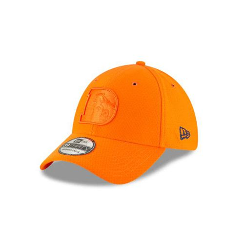 New Era Blue Fitted Hats - Denver Broncos Nfl Color Rush 39thirty Stretch - Canada 659EMUU