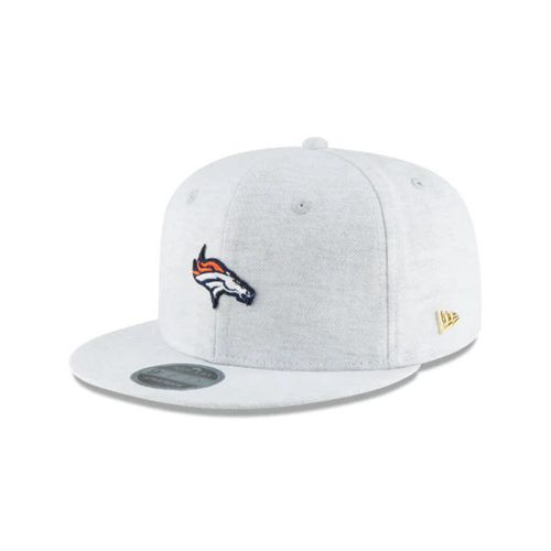 New Era Grey Snapback Hats - Denver Broncos Nfl Micro Stitch 9fifty - Canada 376WNEU
