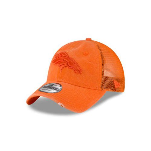 New Era Orange Adjustable Hats - Denver Broncos Nfl Tonal Washed Trucker 9twenty - Canada 103XMDL