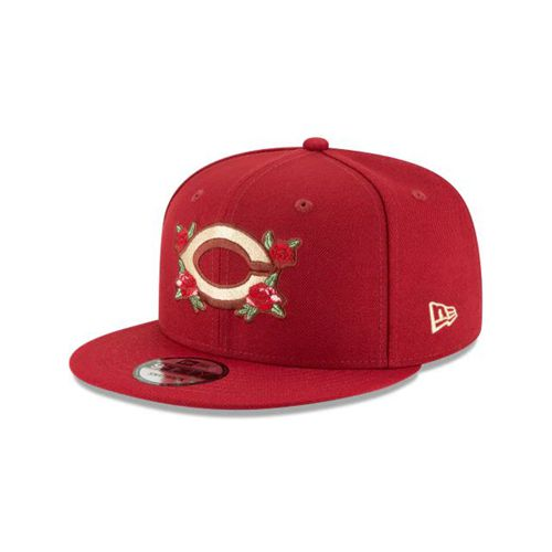 New Era Red Snapback Hats - Floral Pack Cincinnati Reds Red Seashell 9fifty - Canada 928NWBM
